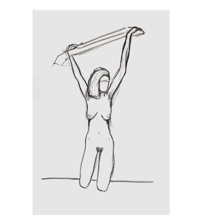 Dibujo desnudo femenino
