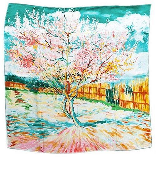 Pañuelo Van Gogh melocotón en flor
