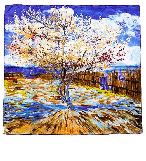 Pañuelo de seda de pintura de Van Gogh