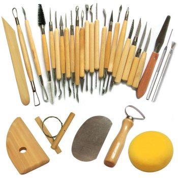 Set 30 Herramientas Modelado Para Escultura, Arcilla, Cerámica