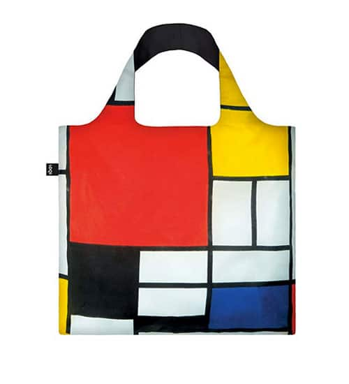 Bolso ecológico de tela con estampado de pintura de Mondrian