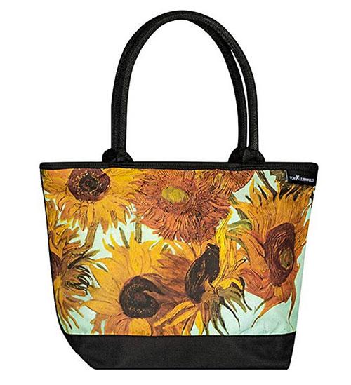 Bolso de compras motivo girasoles de Van Gogh