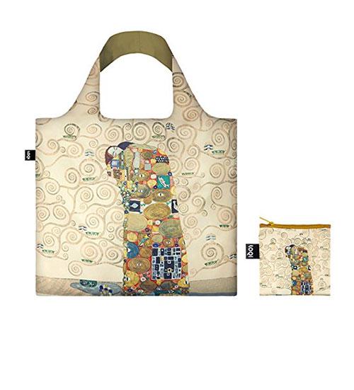 Bolso ecológico de playa motivo pinturas de Gustav Klimt