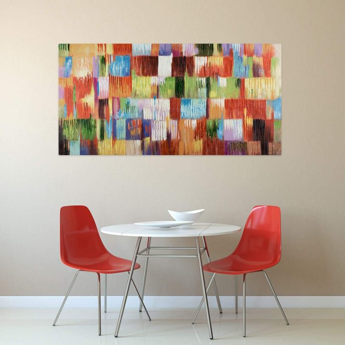 'Un homenaje a la vida' cubismo abstracto