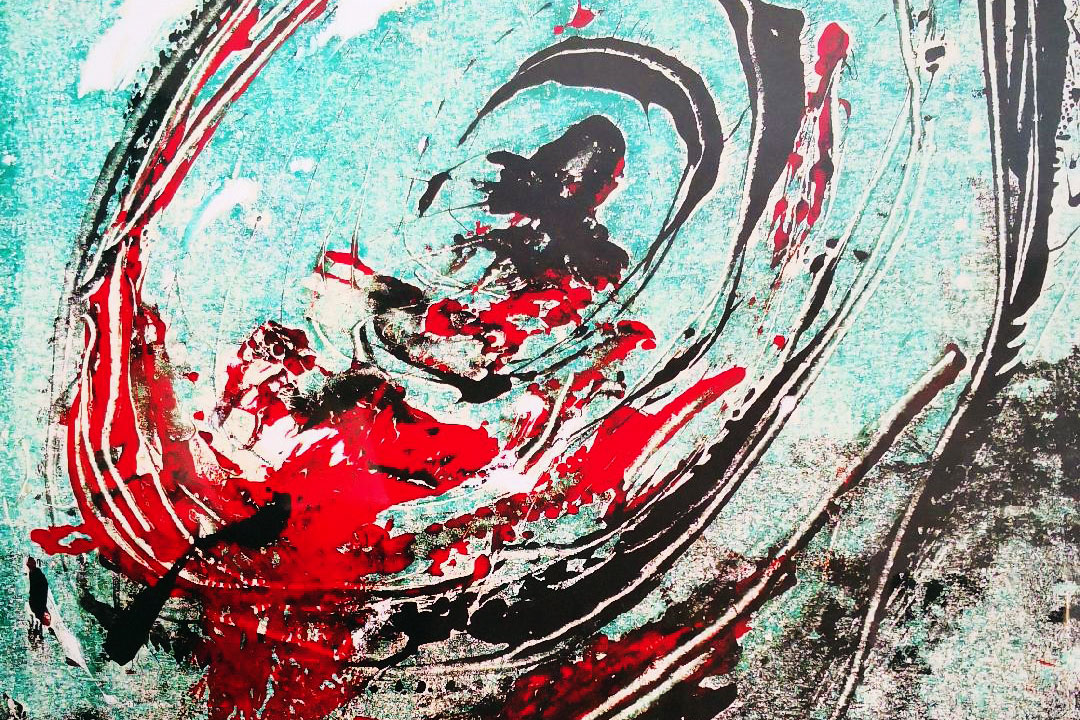 Grabado flamenco abstracto