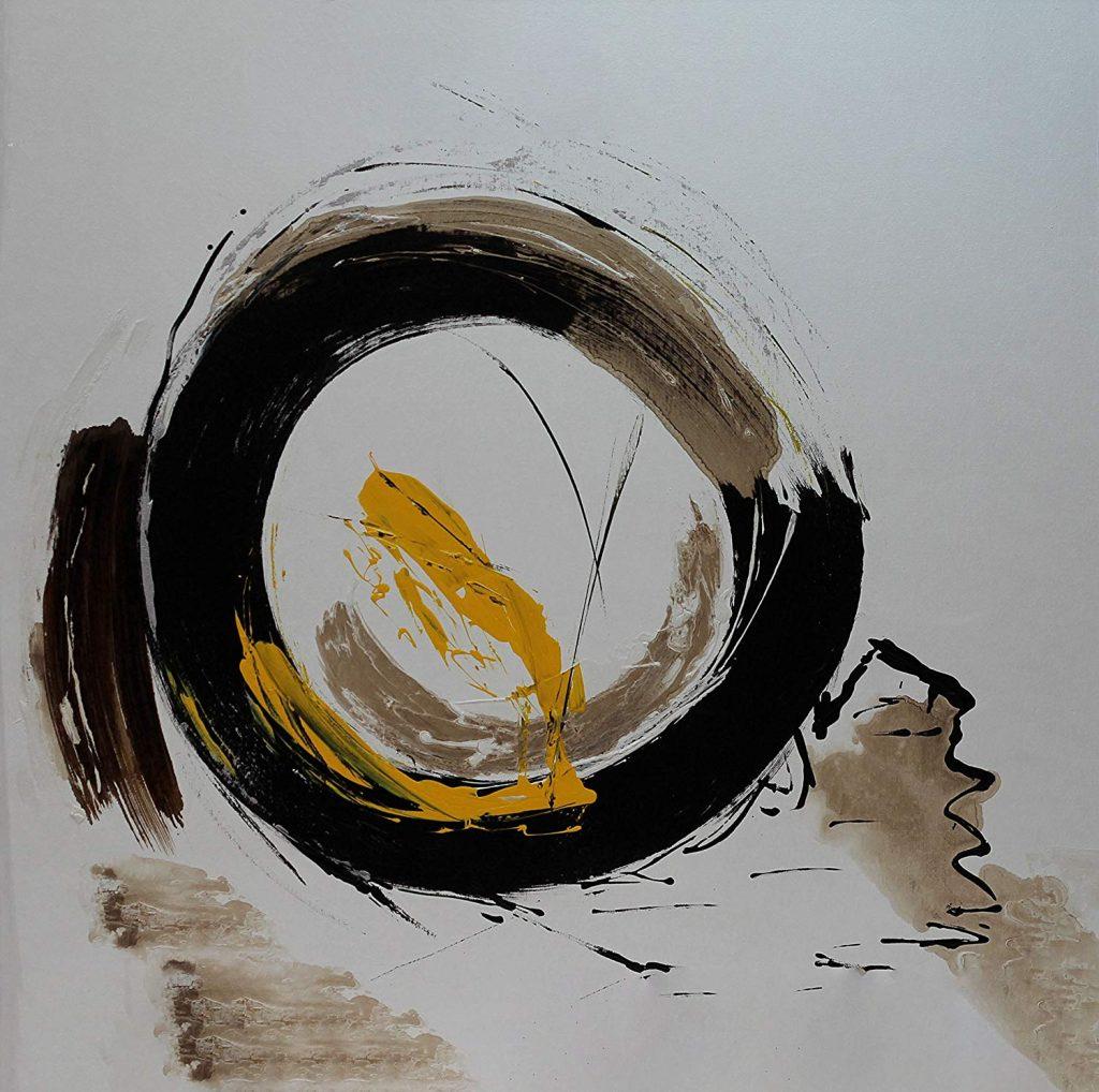 "Pintura abstracta ""Pedaleando"""