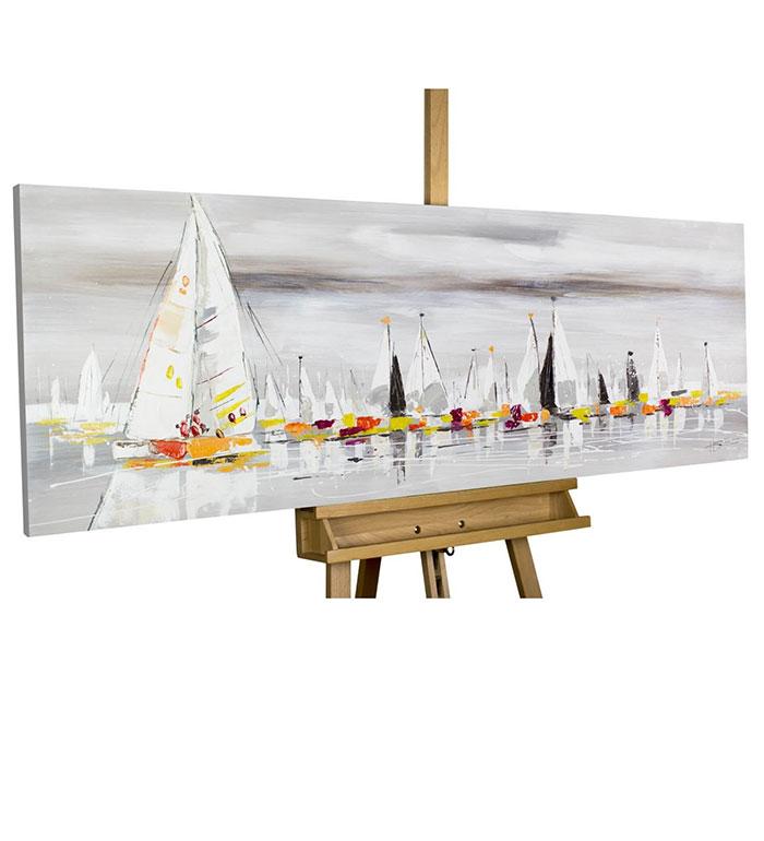 Pintura acrílica veleros