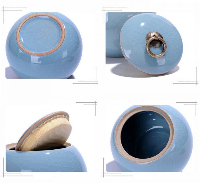 Urna de cenizas para mascotas de cerámica