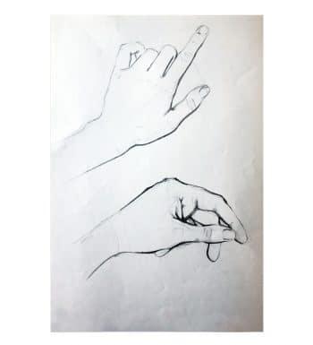 Dibujo De Manos A Lápiz
