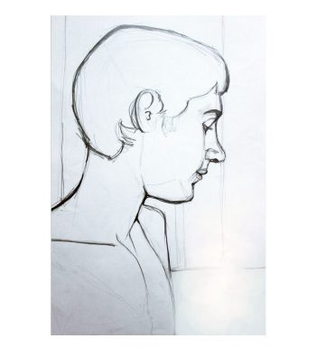 Retrato Adolescente A Lápiz