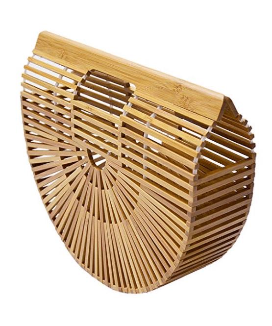 Bolso de bambú hecho a mano