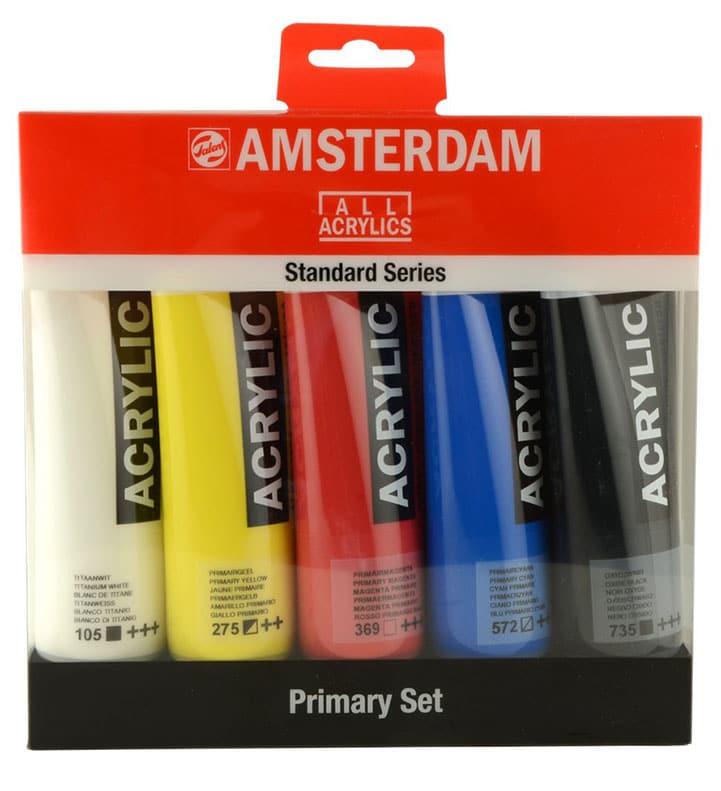 Colores primarios Acrílicos Amsterdam