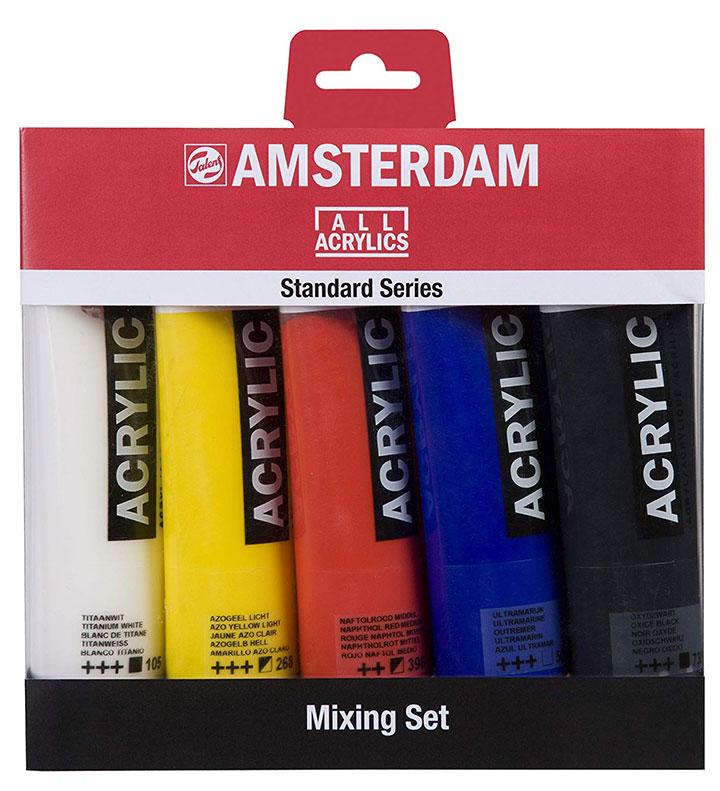 Acrílicos Amsterdam set 5 tubos