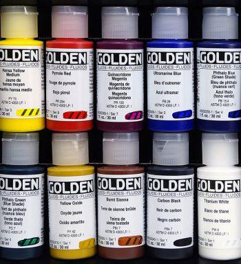 Acrílicos Fluidos Golden 10 X 30 Ml.