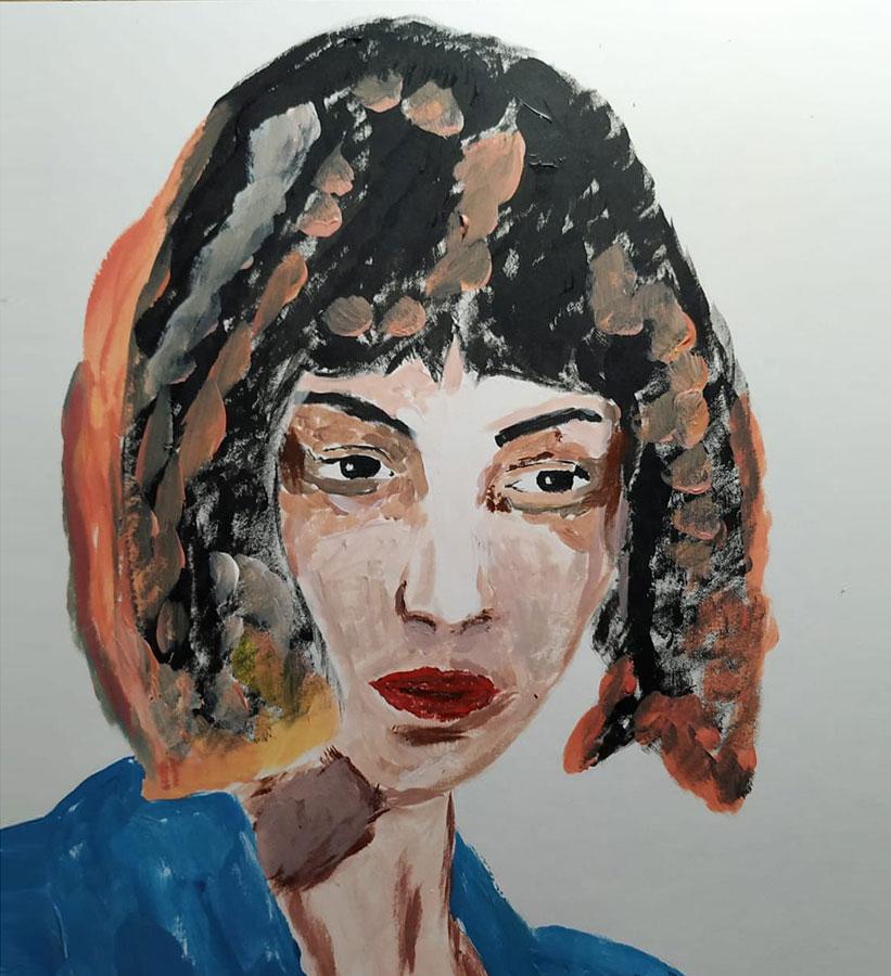 Retrato de mujer corte bob