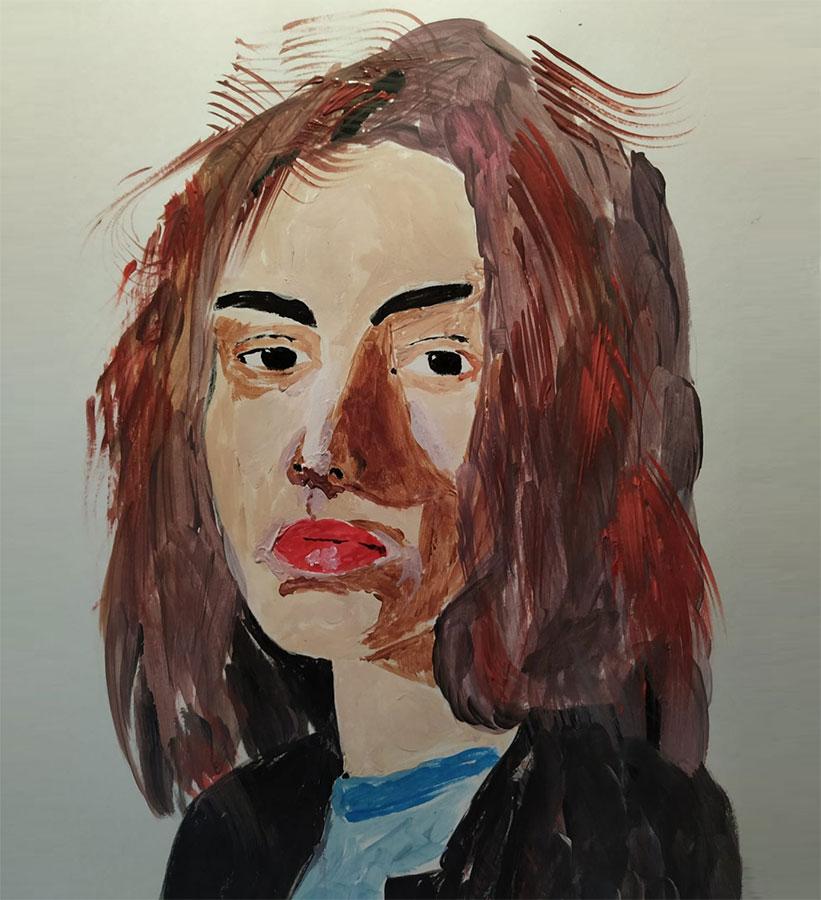Retrato de mujer pelirroja