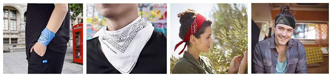 Bandanas para cabeza y cuello