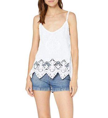 Camiseta De Crochet Blanco