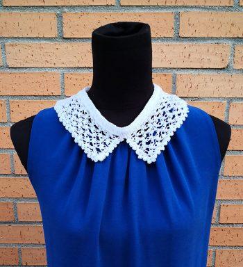 Cuello Blanco De Crochet