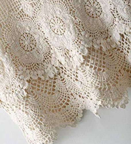 Top de crochet blanco sin mangas