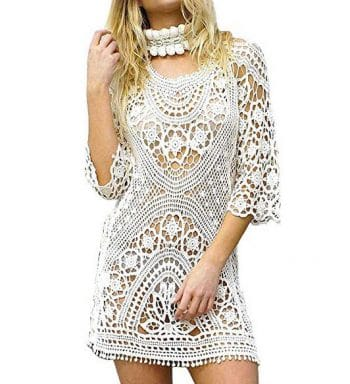 Vestido De Ganchillo Blanco