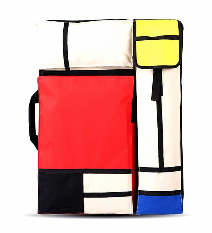 Bolsa multifunción Mondrian dibujo, bocetos, caballete