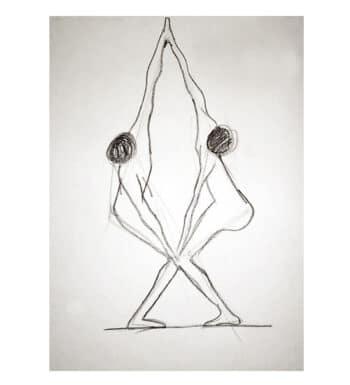 Dibujo A Lápiz De Figuras Humanas «Dualidad»