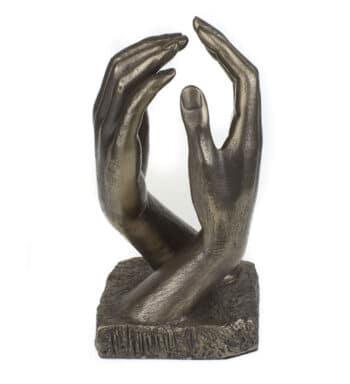 Escultura De Bronce Fundido De Manos Inspirado En La Catedral De Rodin
