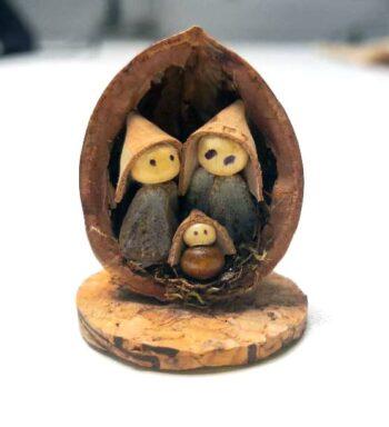 Nacimiento Miniatura Ecológico De Corcho Y Nueces