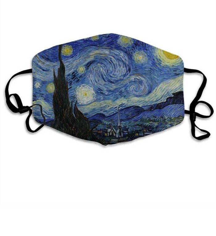 """Mascarilla """"La noche estrellada"""" de Van Gogh"""