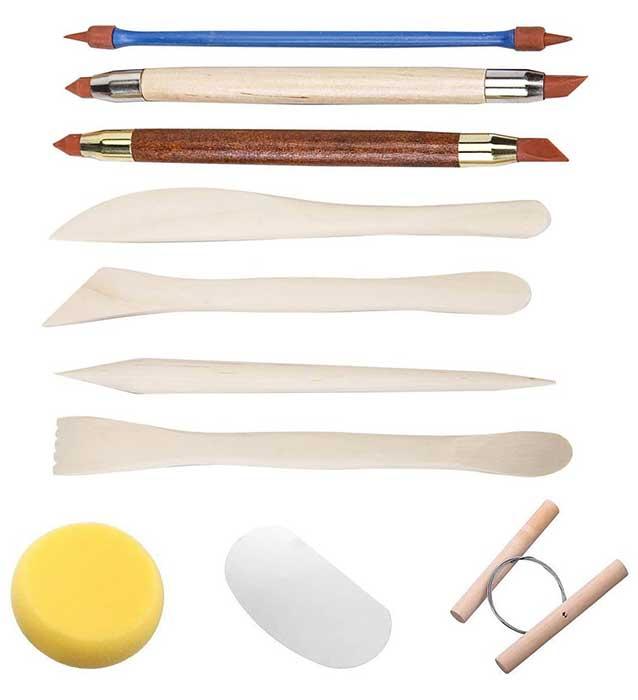 Set de modelado y tallado de arcilla