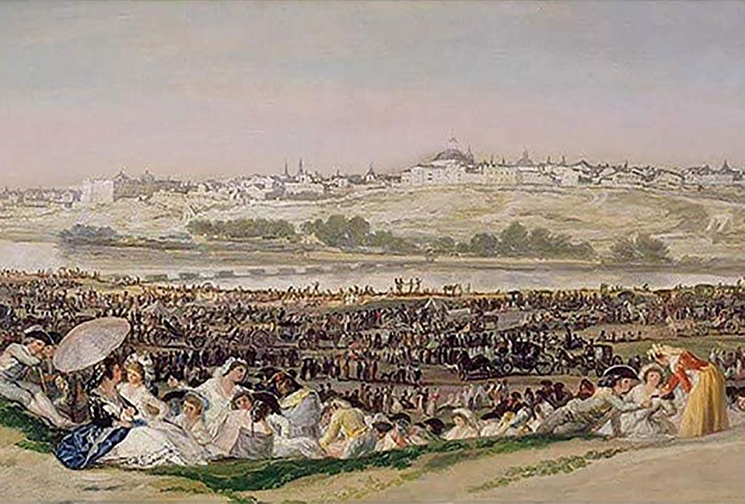"""""""La Pradera de San Isidro"""" impresión oficial del Museo del Prado"""