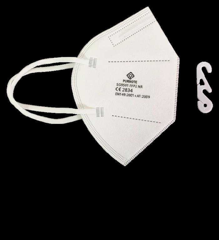 Mascarilla FFP2 homologada con marcado CE con gancho