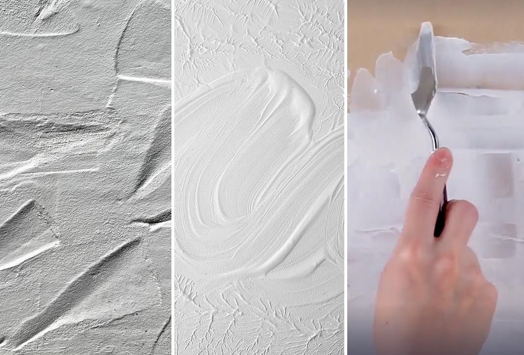 Como hacer texturas con el geso casero
