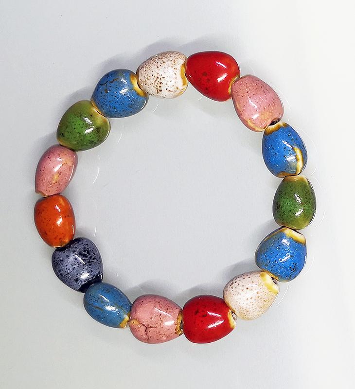 Pulsera de cerámica multicolor